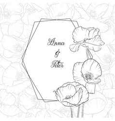 floral teemplate vector image