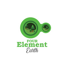 four element earth vector image