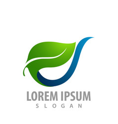 fresh leaf nature concept design symbol graphic vector image