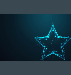geometric star shape abstract wire low poly vector image