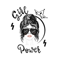 girl power slogan print vector image