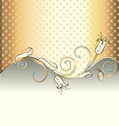 Gold background with flower vector