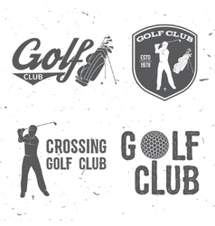 Golf club concept with golfer and bag vector