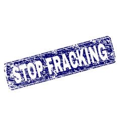 Grunge stop fracking framed rounded rectangle vector