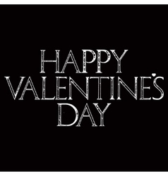 Happy Valentines Day lettering in dark version vector image