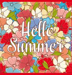 Hello summer lettering best for banner vector