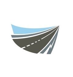 Highway road emblem or icon vector