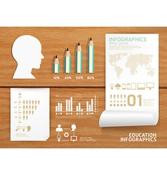 Infographics set and Information education vector
