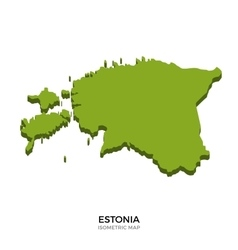 Isometric map of Estonia detailed vector
