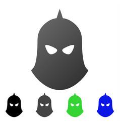 knight helmet flat gradient icon vector image