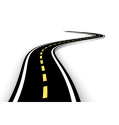 leaving highway curved road with markings 3d vector image