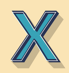 letter x retro text style fonts concept vector image
