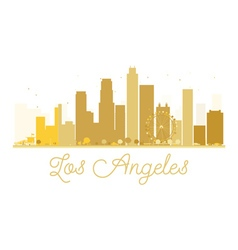 Los Angeles City skyline golden silhouette vector image