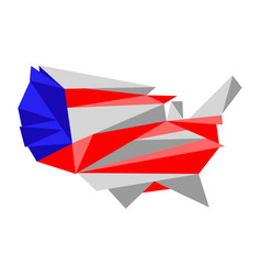 low poly style map of united states vector image