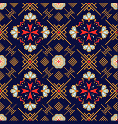 Maltese and oriental geometric background seamless vector