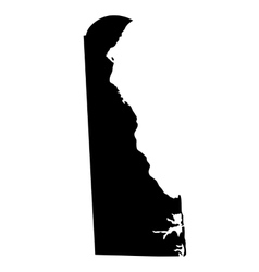 map us state delaware vector image