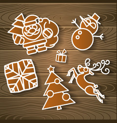 Merry christmas holiday decoration background vector