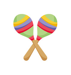 music maracas instrument mexico icon vector image