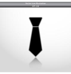 necktie web flat icon vector image