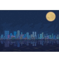 Night city landscape vector image