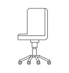 Office chair comfort seat wheel furniture vector