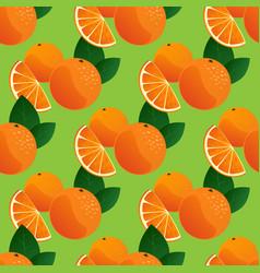 orange seamless pattern vector image