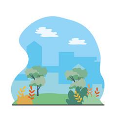 outdoor view scene cartoon vector image