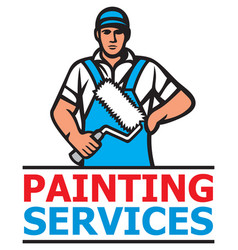 painting services design a professional painter vector image