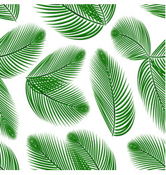 palm leafs seamless pattern vector image
