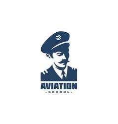 pilot logo vector image