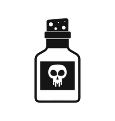Poison bottle icon black simple style vector