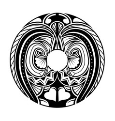 polynesian ethnic circle tattoo vector image