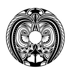 polynesian ethnic circle tattoo vector image