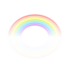 rainbow isolated on a white background vector image