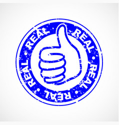real thumbs up stamp vector image