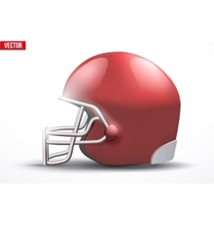 Realistic American football helmet Side view vector image