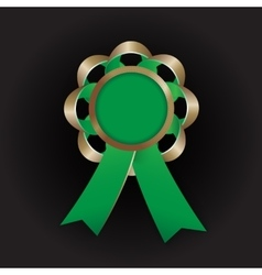 Realistic bronze award with reb bow and vector image