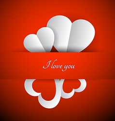 Red valentines background vector