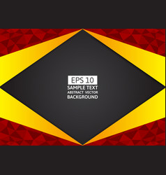redblack and yellow polygon background with copy vector image