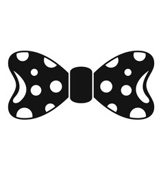 round circle bow tie icon simple style vector image