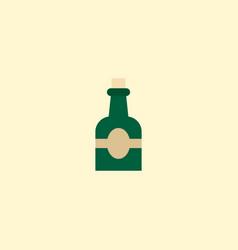 Rum icon flat element of rum vector