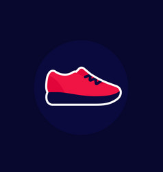 running shoe icon trainers or sneakers vector image