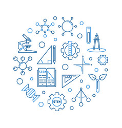 science technology engineering and math round vector image