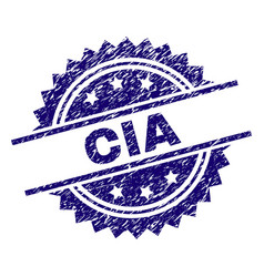 Scratched textured cia stamp seal vector