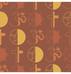seamless background with symbols of religion vector image vector image