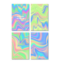Set holographic trendy backgrounds can be used vector