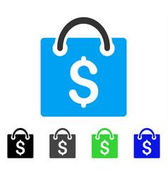Shopping bag flat icon vector