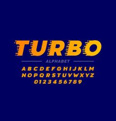 speed style retro font vector image