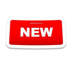 stapled new sticker vector image