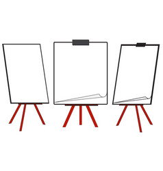 Three clean flipcharts vector